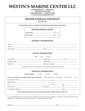Winter Contract